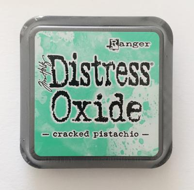 Distress oxide cracked pistachio