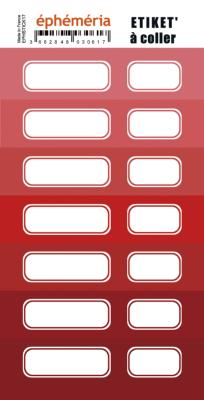 Stickers nuances de rouge